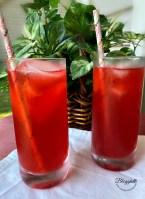 two glasses of Passion Tea Lemonade