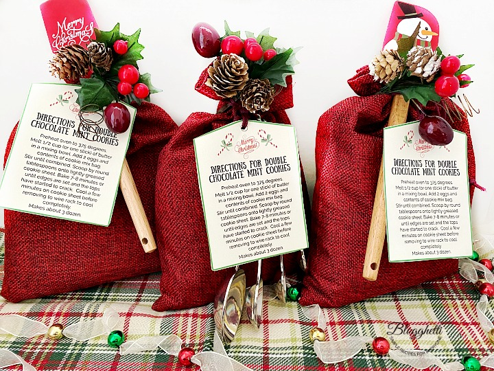 Holiday Cookie Mix Gift Sacks