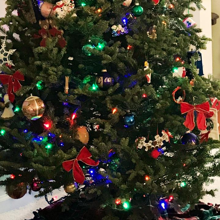 Christmas tree decorations bottom