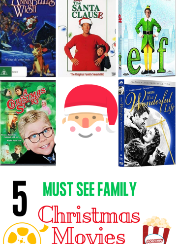 Top 5 favorite Christmas movies - with text overlay