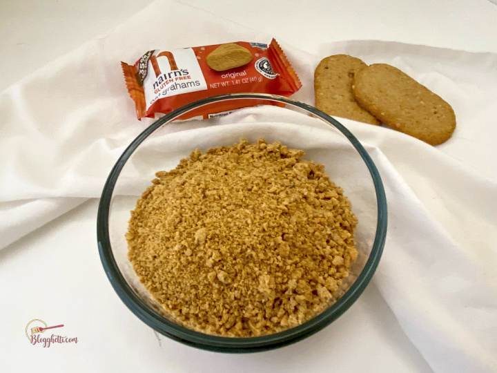 Nairn's oat grahams crushed in bowl