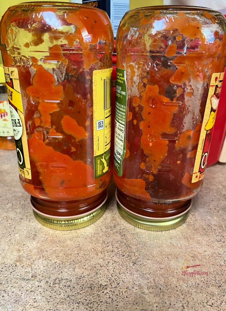 spaghetti sauce jars tip