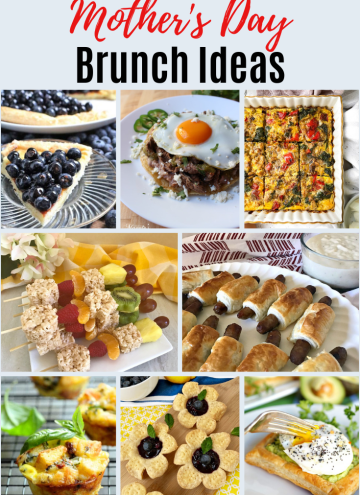 Collage of Mother's Day Brunch Ideas