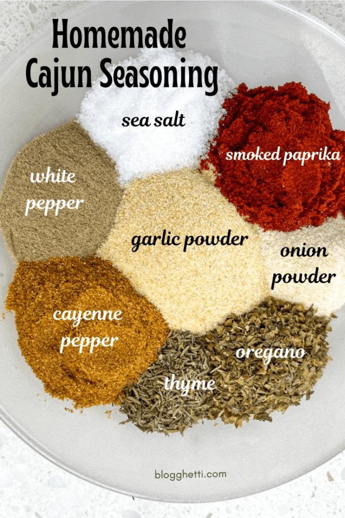 Homemade Cajun Seasoning with text overlay