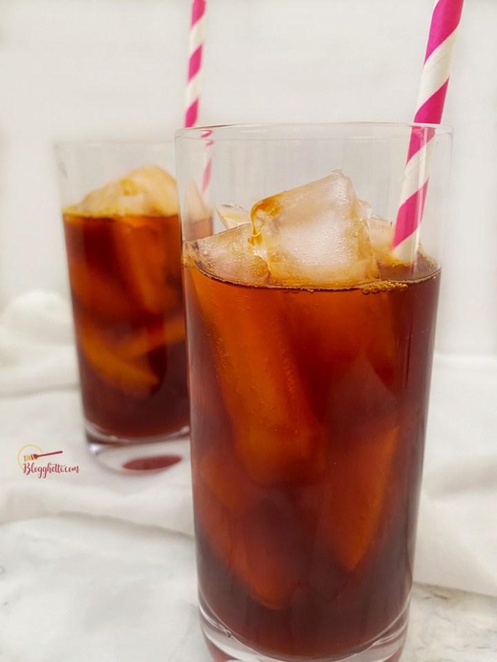 Thai Iced Tea in tall glasses