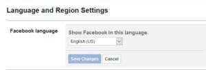 Changing Facebook language on desktop
