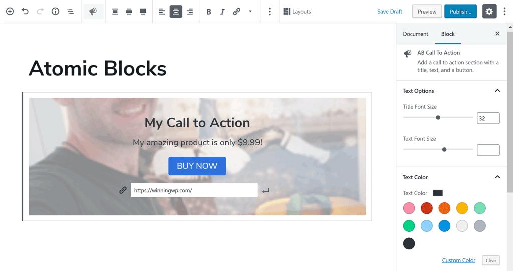 Aufruf zum Aktionsblock
