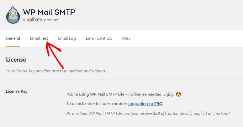 WP Mail SMTP-Einstellungen