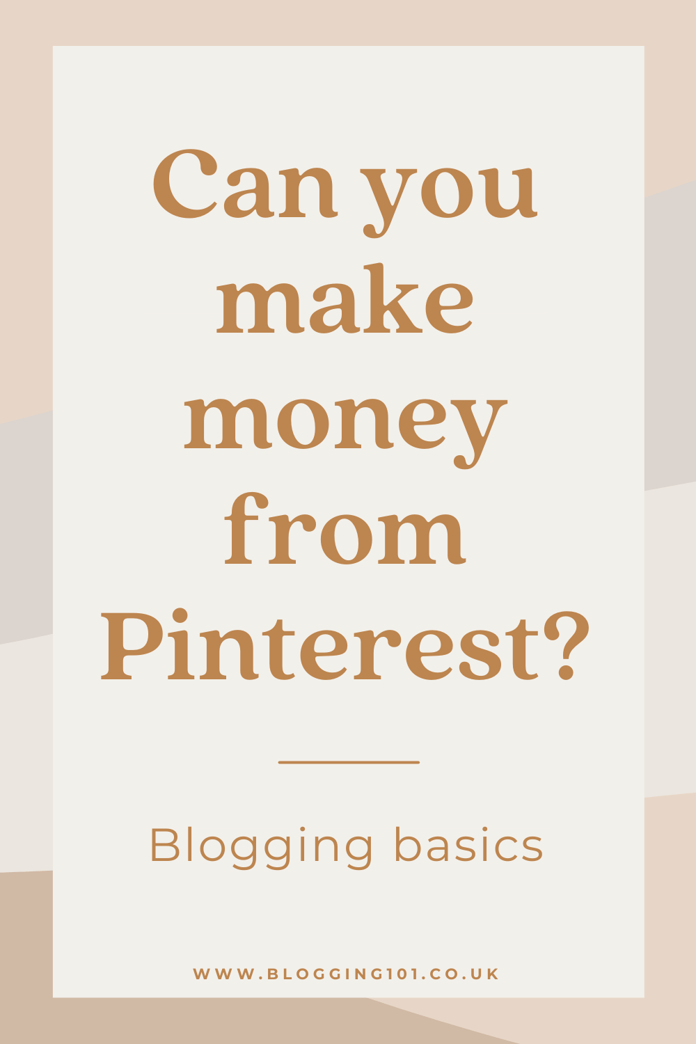 Can you make money from Pinterest