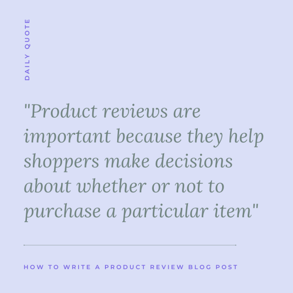 How to Write a Product Review Blog Post - Blogging basics