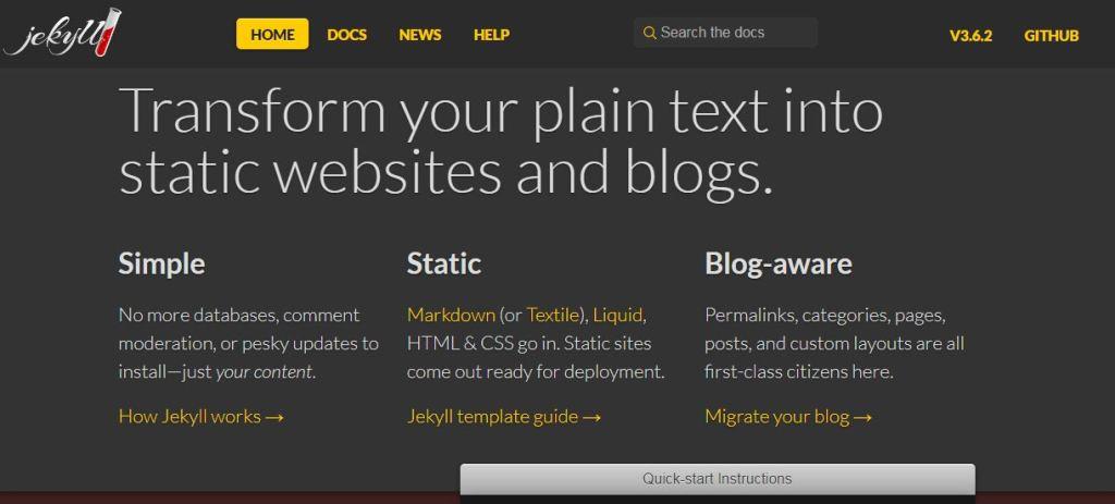 jekyll blogging platform