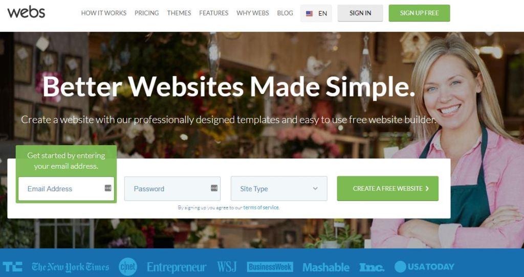 webs blogging platform