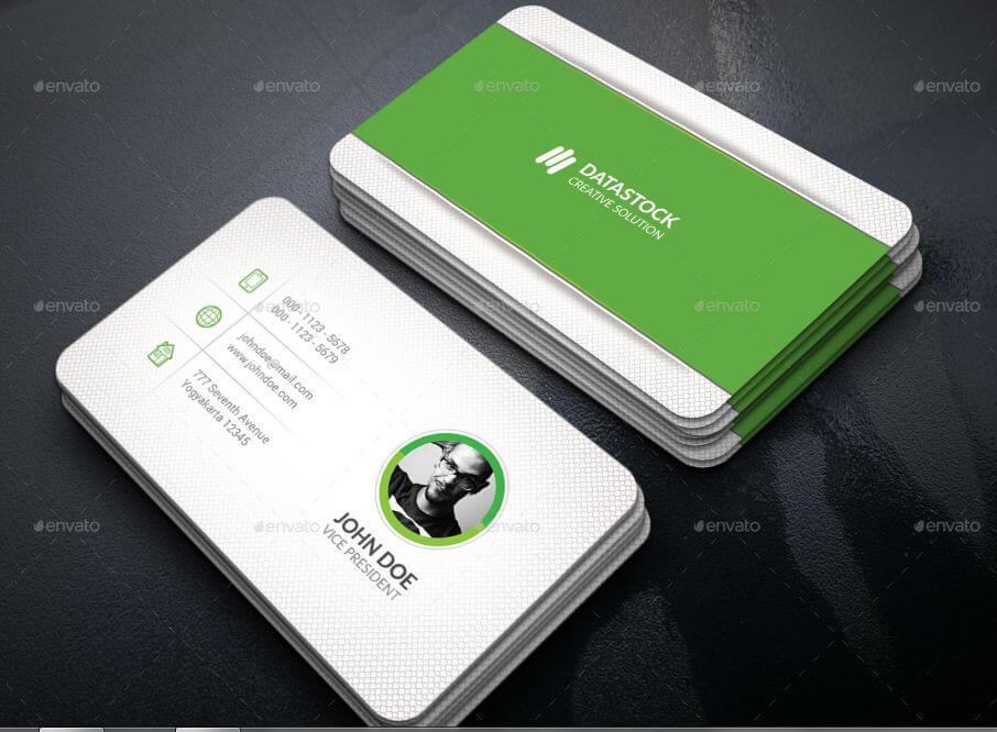 green corporate simple card