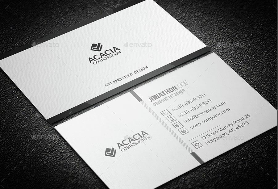 31 professional simple business cards templates for 2018 simple corporate business card colourmoves