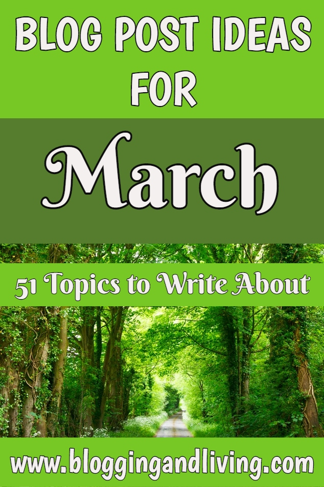 march blog post ideas