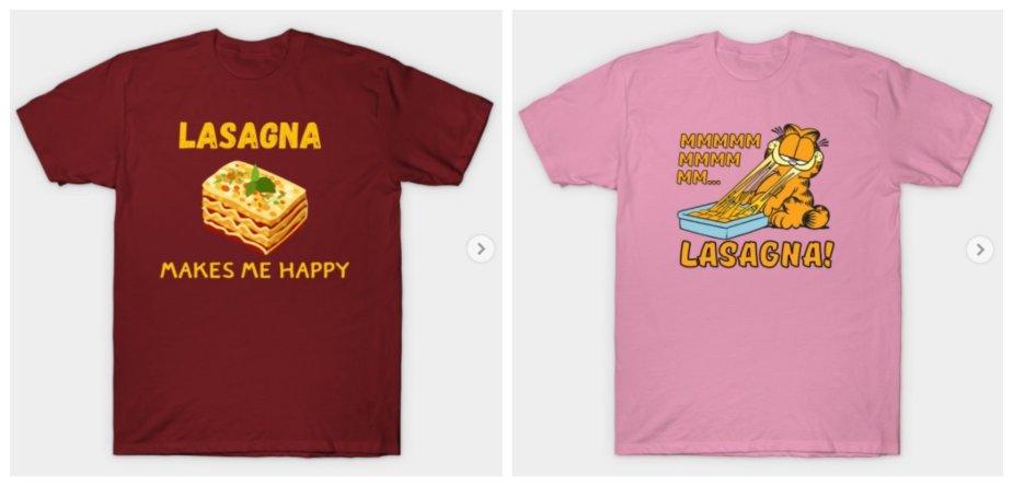 lasagna shirts