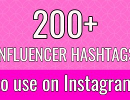 influencer hashtags