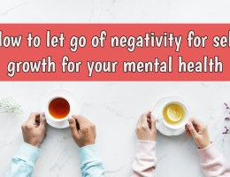 let go of negativity