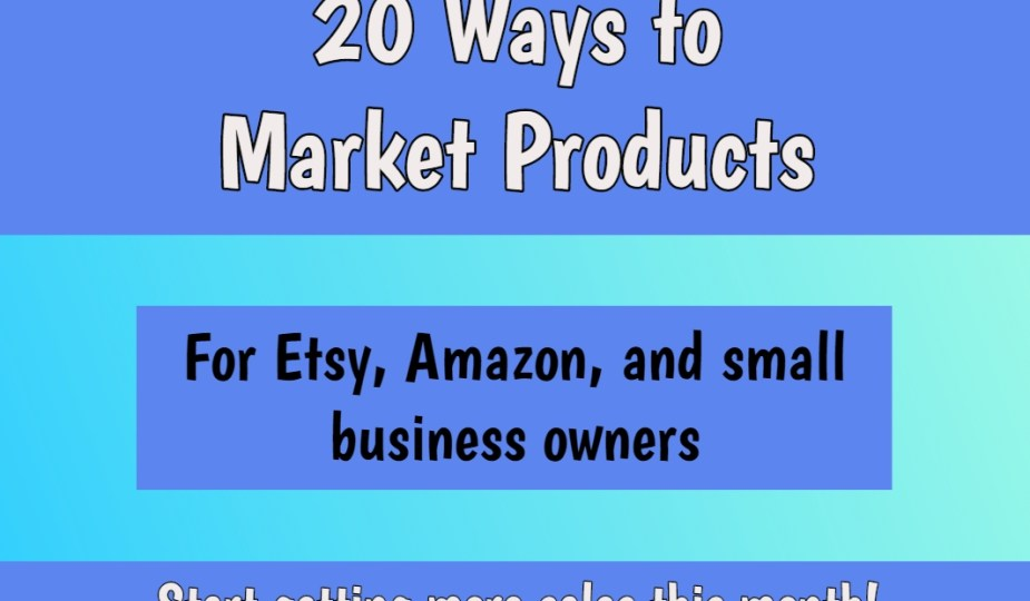 ways to market products