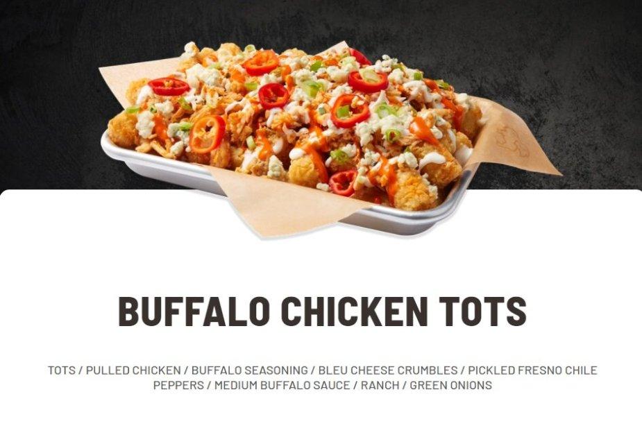 Buffalo Chicken Tots