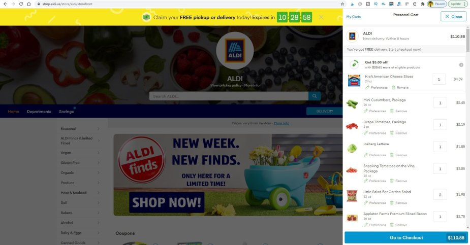 Aldi delivery review – My 1st time using Instacart Delivery | Review