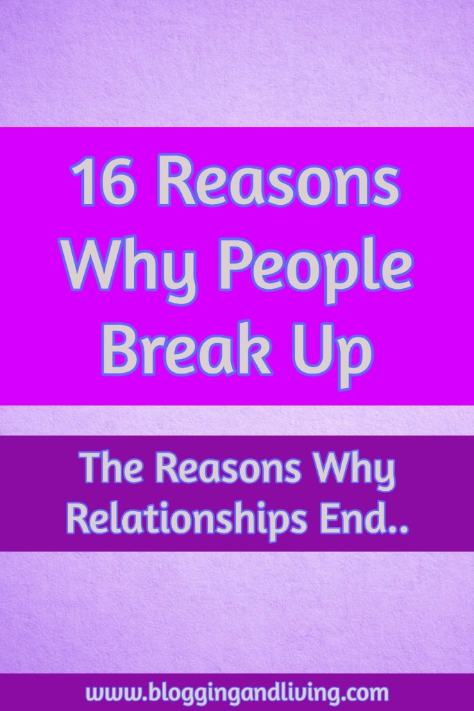 reasons why relationships end