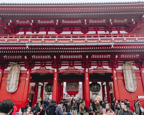 Asakusa Sensoji Temple Tokyo Japan Thunder Gate