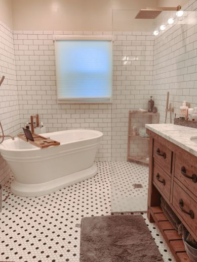 Trendy Bathroom Remodel, Farmhouse remodel