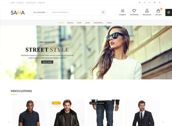 Saha - Ultra-Modern e-Commerce Theme