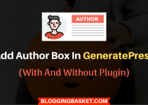 How to Add Author Box in GeneratePress Theme? (SEO Optimized)