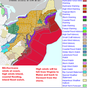 Sunday Storm Warnings - Massachusetts