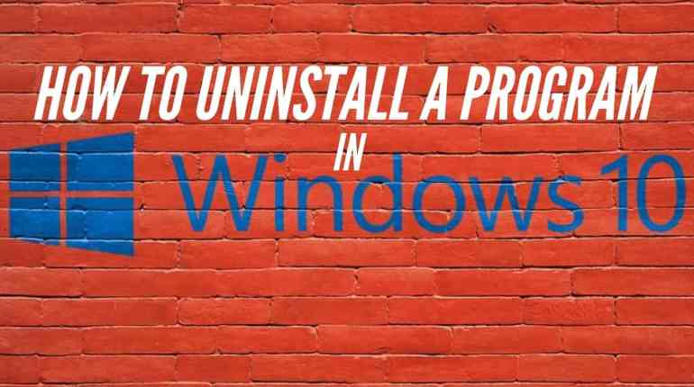 how to uninstall a program