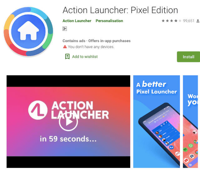 action launcher for android