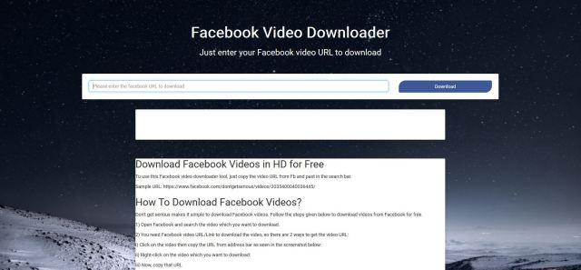fb vidoe downloader