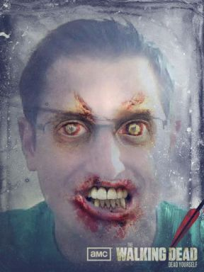 Evan as a zombie