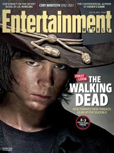 Chandler Riggs as Carl Grimes on the cover of Entertainment Weekly