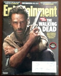 Andrew Lincoln as Rick Grimes on the cover of Entertainment Weekly