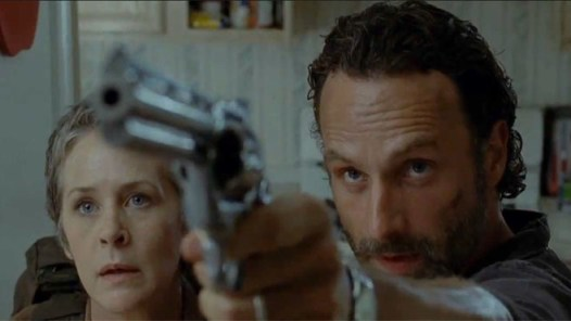 Melissa McBride and Andrew Lincoln in The Walking Dead Season 4 Episode 4
