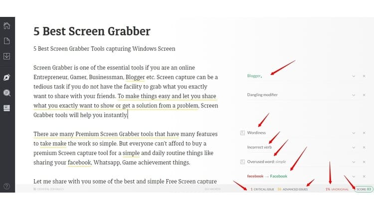 Grammarly grammarly review - Web Interface