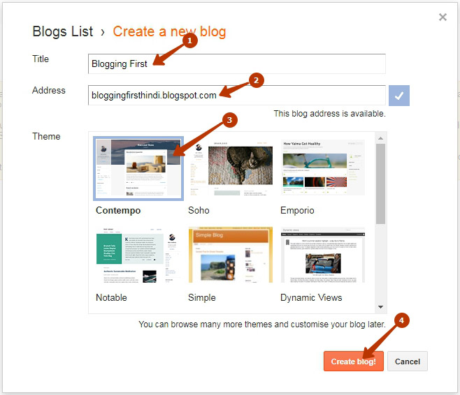 create blog final step