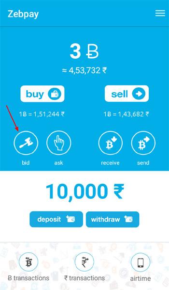 lowest price par bitcoin kharide