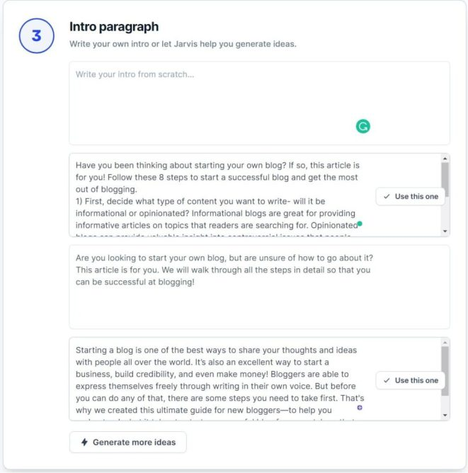 jarvis.ai long-form assistant step3