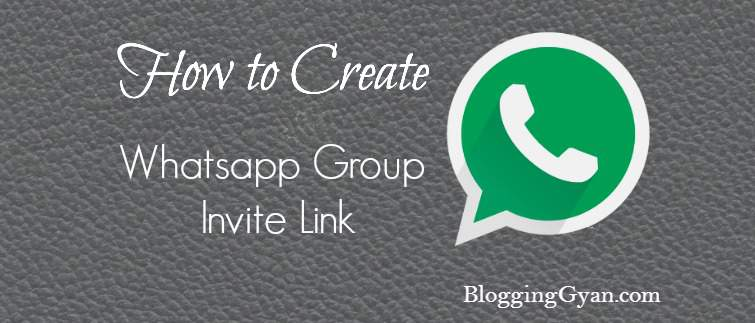 How to Create Whatsapp Group Invite Link in Hindi