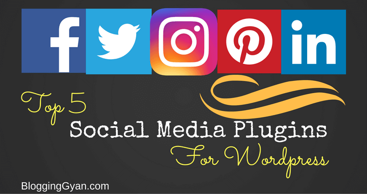 Top 5 Social Media Plugins for wordpress