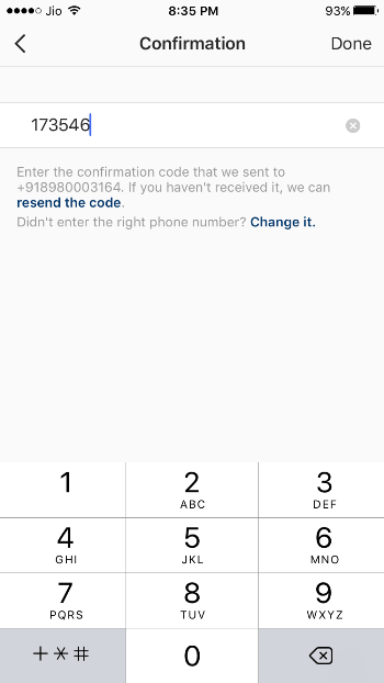 Confirmation Code Enter Kare