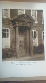Photograph of the doorway to Manor House