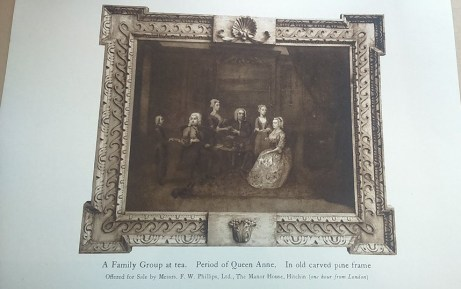 Photograph of a painting of a family group in Manor House
