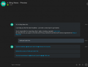 Bing News Bot