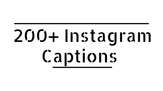 caption for instagram