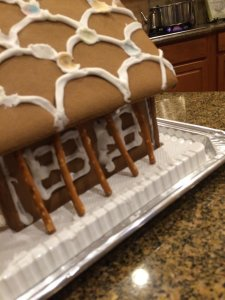 Even gingerbread houses need supporting beams.
